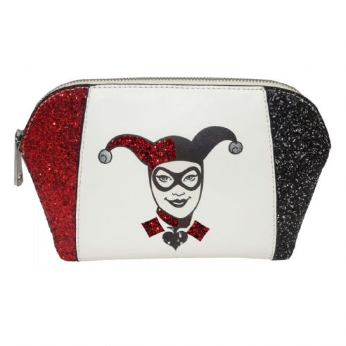 Harley Quinn Red White & Black Makeup / Wash Bag
